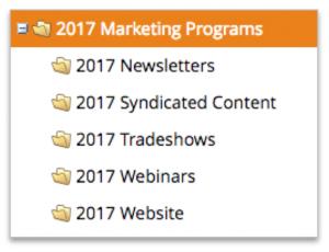 2017 Marketo folders
