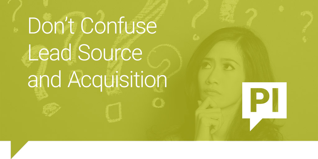 Don't Confuse Lead Source and First Touch