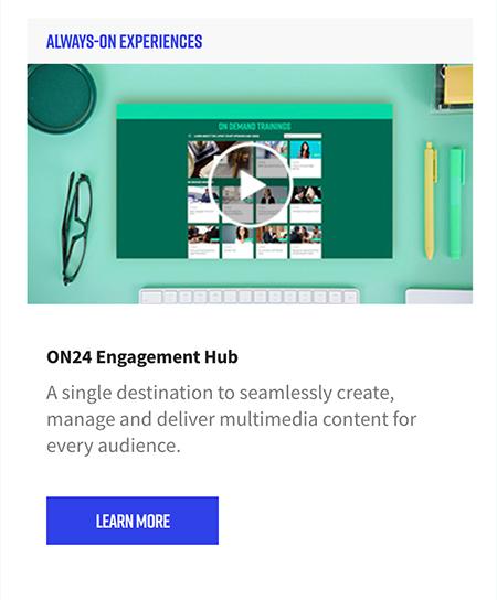ON24 Engagement Hub