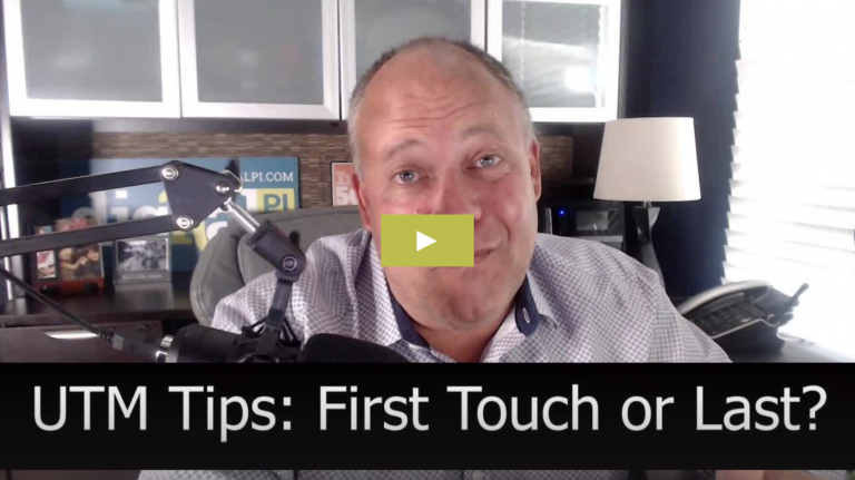 Still from video of Jeff Coveney explaining how to capture first touch and last touch UTM parameters in Marketo