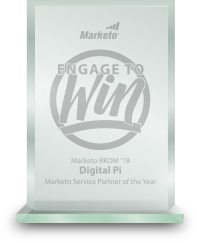 Marketo award recognizing Digital Pi as Services Partner of the Year