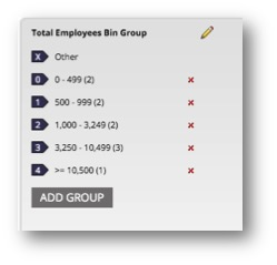 Group labels are defined and ready to use
